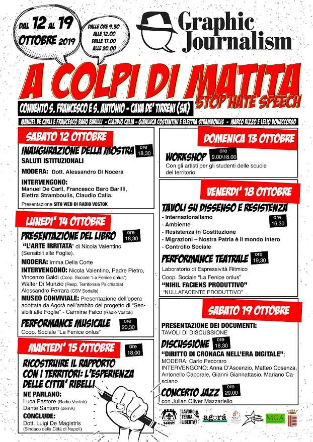 """Cava de' Tirreni, il 12 Ottobre alle 18.30 si presenta """"A colpi di matita"""""""
