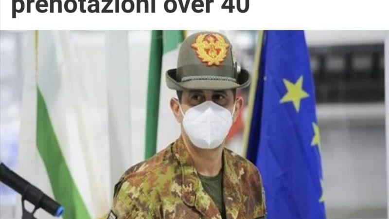 LUNEDI' 17 MAGGIO: LE REGIONI D'ITALIA PRONTE CON LE PRENOTAZIONI PER GLI OVER 40