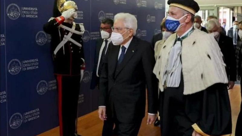 IL PRESIDENTE DELLA REPUBBLICA SERGIO MATTARELLA IN VISITA A BRESCIA