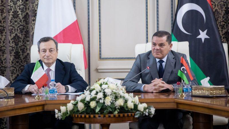 """ITALIA-LIBIA, DRAGHI: """"COLLABORAZIONE CONTINUA AD ESSERE SEMPRE PIÙ FERTILE E VIVA"""""""