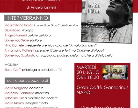 NAPOLI AL CAFFÈ GAMBRINUS IANNELLI PRESENTA IL SUO ULTIMO LAVORO LETTERARIO