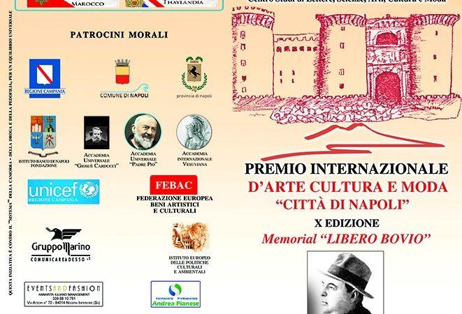 """PREMIO INTERNAZIONALE D'ARTE CULTURA E MODA """"CITTA' DI NAPOLI"""" X EDIZIONE MEMORIAL """"LIBERO BOVIO"""""""